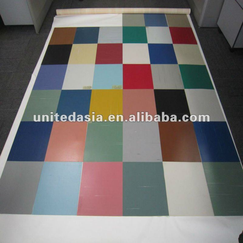 plain PVC floor tile 300x300x1.2mm
