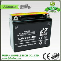 rechargeable lead acid battery super starting 12N7BL-BS mf motorcycle battery