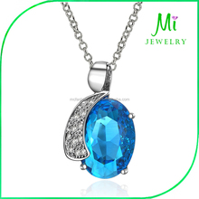 Wholesale Fashion 18 Gold Drop Necklace Mystery Sapphire Jewelry
