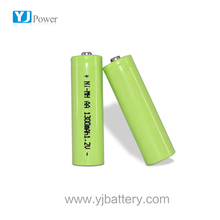 High capacity YJ 1300mah 350mah aa rechargeable ni-mh battery 1.2v Of Cell Ni-MH Sealed Cylindrical Cell with top battery