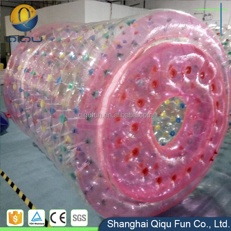 2017 China manufacturer supply funny and safe durable dia 2.5m 3m 3.5m customized water roller inflatable roller wheel for sale