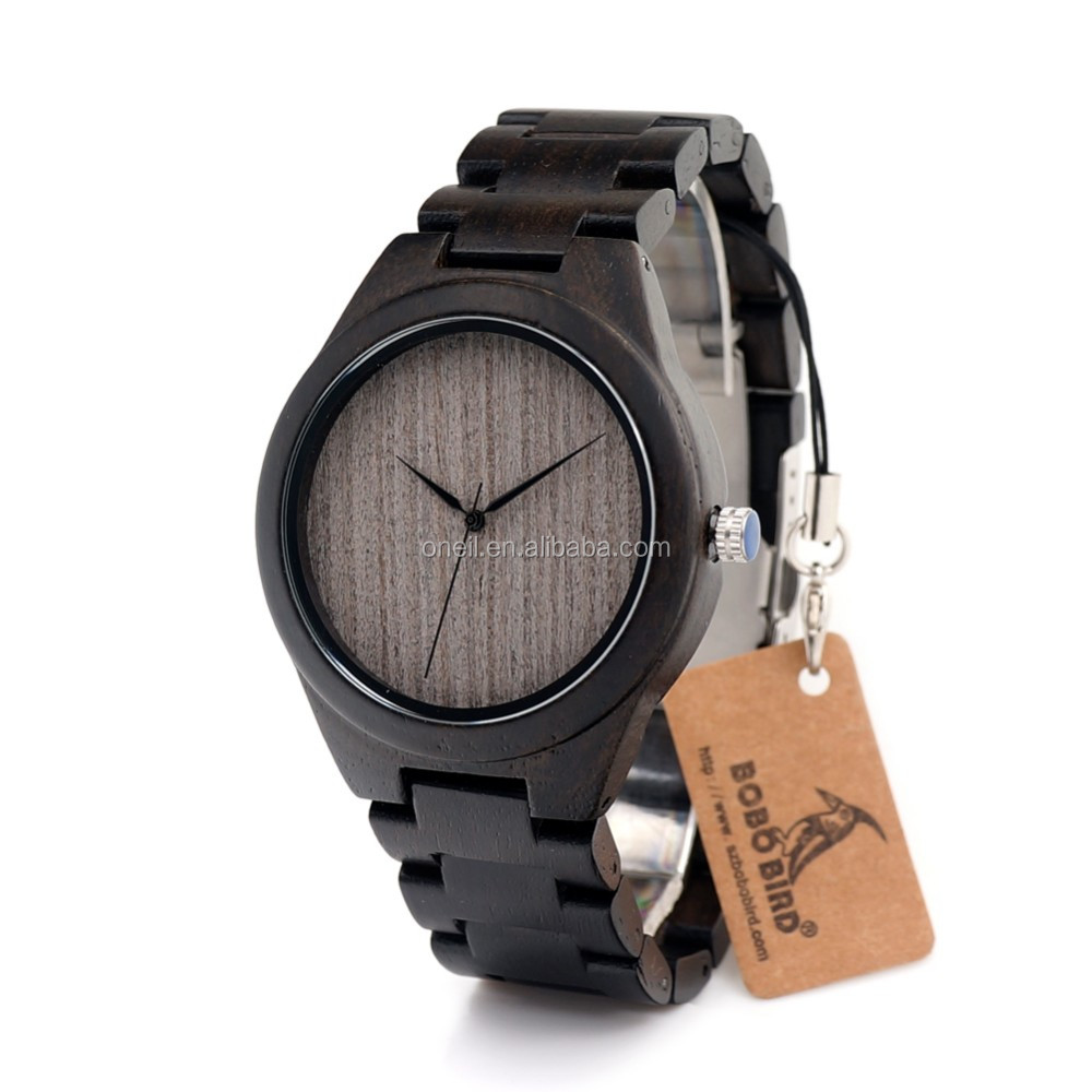 Luxury 2017 Men Quartz Wooden Watches Bezel Japan Movt OEM Custom China Watch With Your Own Logo