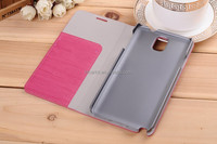 China supplier wallet wood grain mobile phone case for samsung galaxy note 3