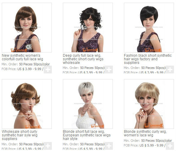 blonde short wigs for white women, Heat resistant fiber hair styles