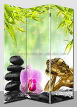 folding screen with 3piece buddha room divider screens room dividers