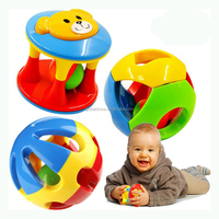 2 PCS / Set Lovely Baby Rattle Toys Plastic Baby toys 0-12 Months Hand Shake Bell Ring Toy Educational For Baby