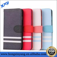 Imitation leather cover for iPhone 6 with hand strap cross pattern