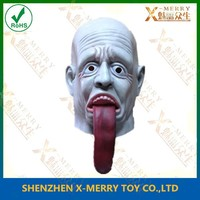 X-MERRY ugly grimace with long tongue, overhead mask, customized design SCARY HALLOWEEN PROP MANNEQUIN