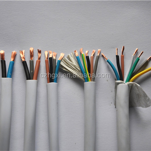electric 3 core 2.5mm flexible wire/pvc insulated cable and wire color code for