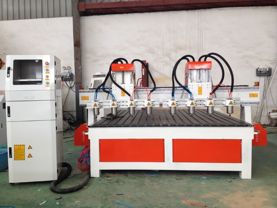 Two Head with 8 spindle CNC Router Mchine