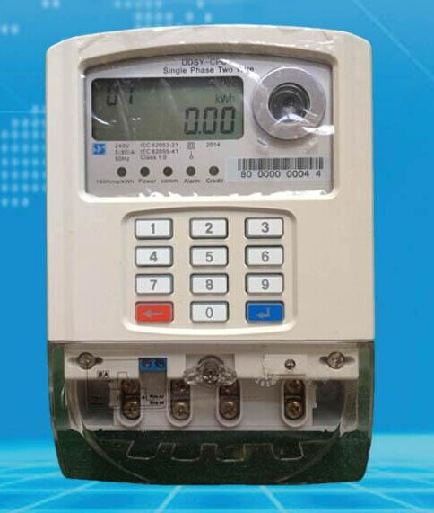 Smart Card Electric Meter Digital Prepaid Electric Meter ...