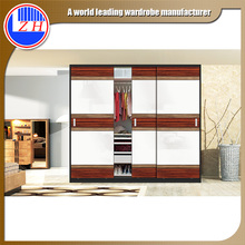 acrylic UC PVC high goloss matte color simple bedroom wardrobe sliding door designs