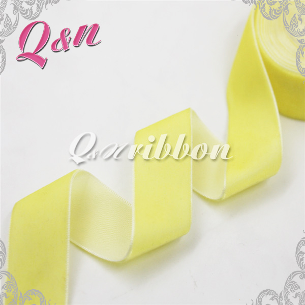 alibaba china yellow face velvet ribbon bow wholesale