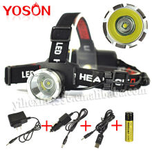 Wholesale Waterproof Led Headlight 18650 battery Powered and Car Charged Led Headlamp CREE XM-L T6 High Bright Led Head Lamp