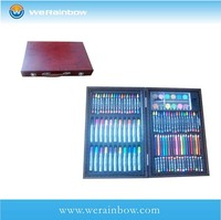 custom eco friendly school stationery art set in wooden case