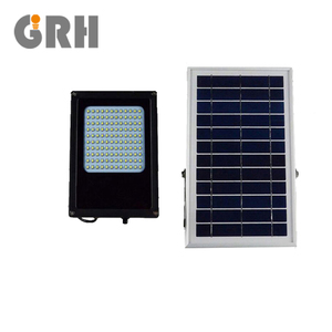 5w solar powered led motion-activated flood light