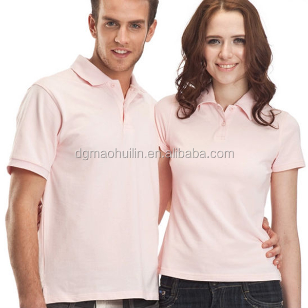 OEM design plain t shirt couple's polo shirt china supplier 2015 style tee
