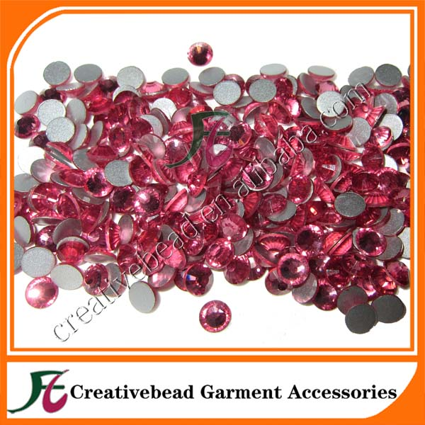 SS30 Rose Nail Art Decorations Non Hot Fix Crystal Flat Back Rhinestones Gems