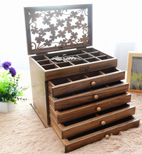 china High-grade wooden jewelry box european-style solid wood bracelet boxes