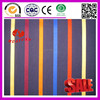 100% cotton red blue yellow stripe black fabric
