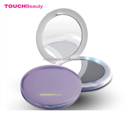 High Quality Cosmetic Portable Round Double Sided makeup lighted mirror