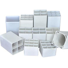 "White Plastic Warning Pile Electrical Ventilation Drain Hydroponics 8 inch 6"" 4"" Rectangular Square PVC Pipe"