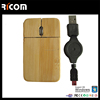 ultra slim bamboo mouse with engrave logo ,bamboo wood optical mouse,flat wood mouse--MS7045--Shenzhen Ricom