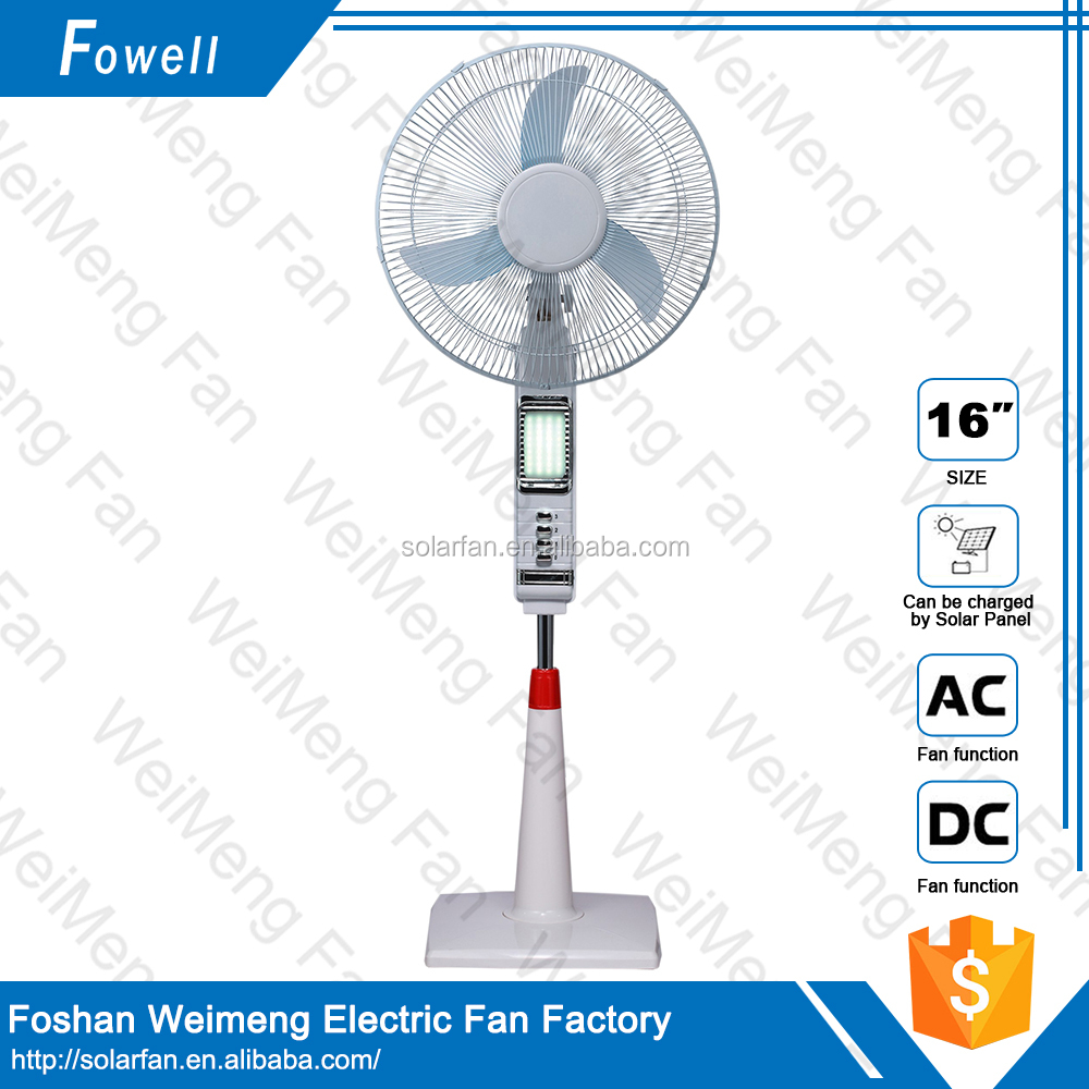 12v ac/dc Rechargeable Stand usb fan with led clock