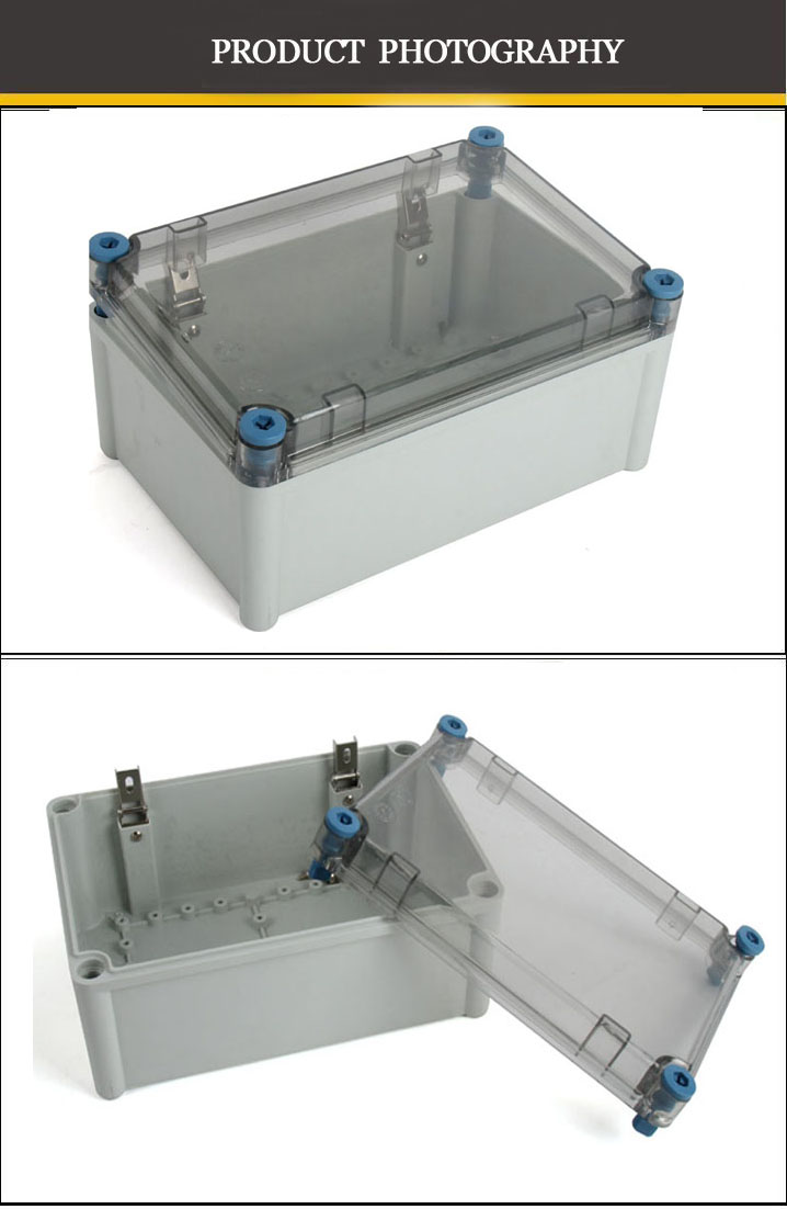 High quality Wholesale transprant cover ABS material blue screw Waterproof power outdoor junction box