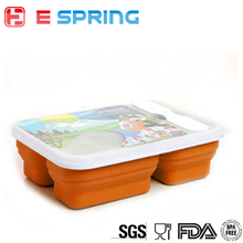 Durable 3 Compartment Silicone Baby Food Storage Containers With Lids