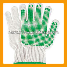 Industrial PVC Grip Dots Cotton Gloves HYJ214