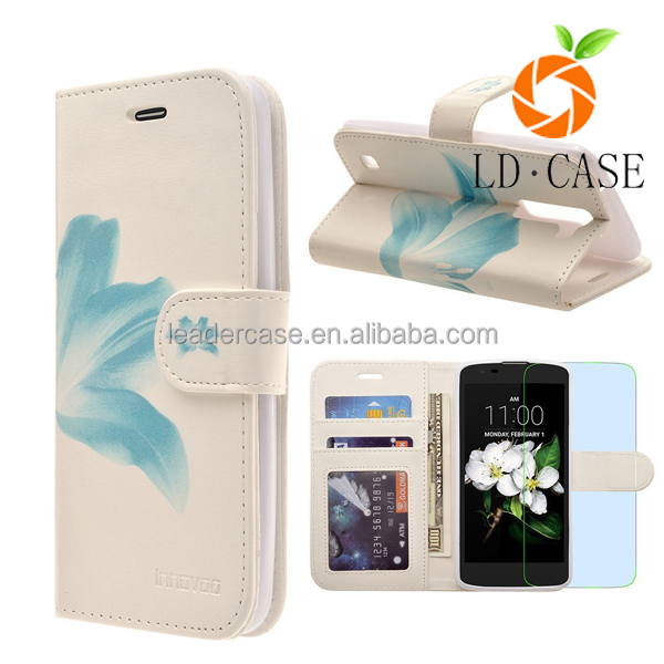 High Quality PU Leather Universal Mobile Phone Punch Case For Iphone 7