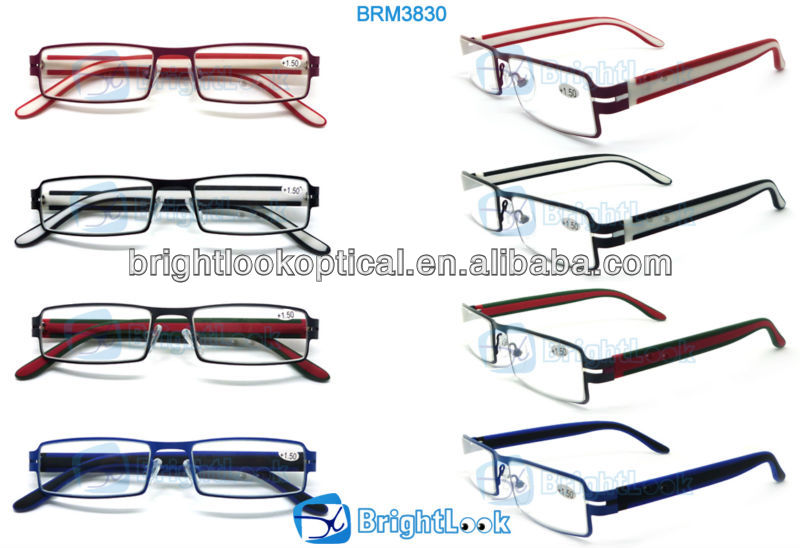 2014 New Style Wenzhou Fashion Design Metal&Plastic Unisex Full Frame Trendy Double Injection Reading Glasses (BRM3830)