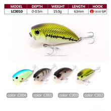 Crank style fishing lures for saltwater