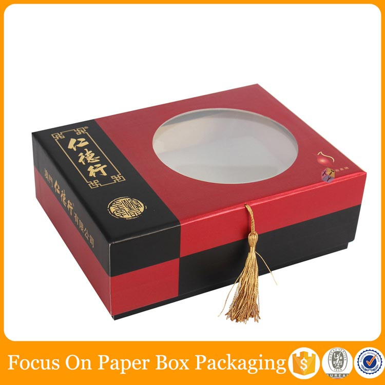 high end elegant cellophane window gift boxes