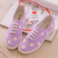 DQ China Customized hand printed girls casual sneakers low price brand name loafers