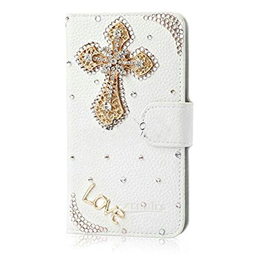 Luxury 3D Bling Crystal Rhinestone Wallet Leather Purse Flip Card Pouch Stand Cover Case For Sam S7 S4 S5 S6E S7E S8 N4 N5