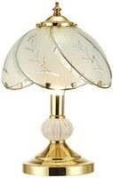Polished Brass Touch Table Lamp with Brass Key Finial