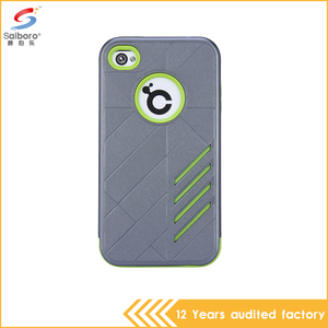 hot selling products gray and green color hybrid armor mobile phone case cover for apple iPhone 4 4s 4G