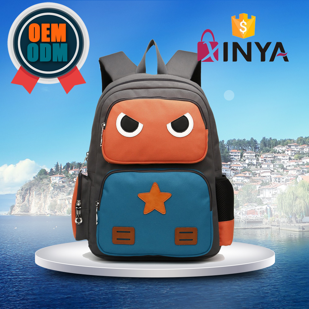 Adorable robot design personalized little kids backpacks for school