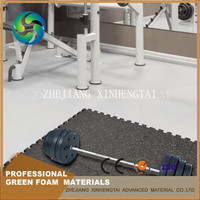 Non-toxic Rubber Gym Floor Mat Interlocking Mats