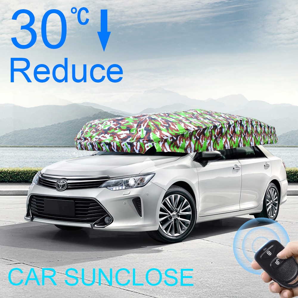 SUNCLOSE Factory disposable plastic car cover car static cling sunshade used car roof tent