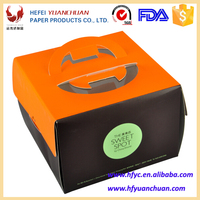 Chinese Disposable coated paper packaging boxes with windowsfor sweet Cake ,dessert