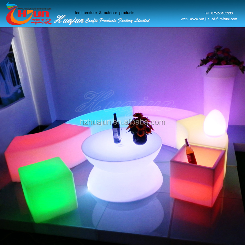 rgb led cube /glowing remote control led cube chair