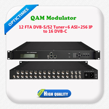 DVB-S2/ ASI/ IP input all in one device 16 qam dvb-c catv rf modulator
