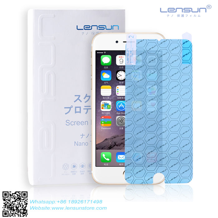 LENSUN Soft Explosion-proof Anti-Glare Shatterproof High Clear Nano Liquid Screen Protector For Iphone 6 6s 6splus 7