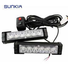 LED Strobe Flashing Tow Truck light LED rechargeable Strobe Dash Emergency vehicle strobe Flashing Warning Light