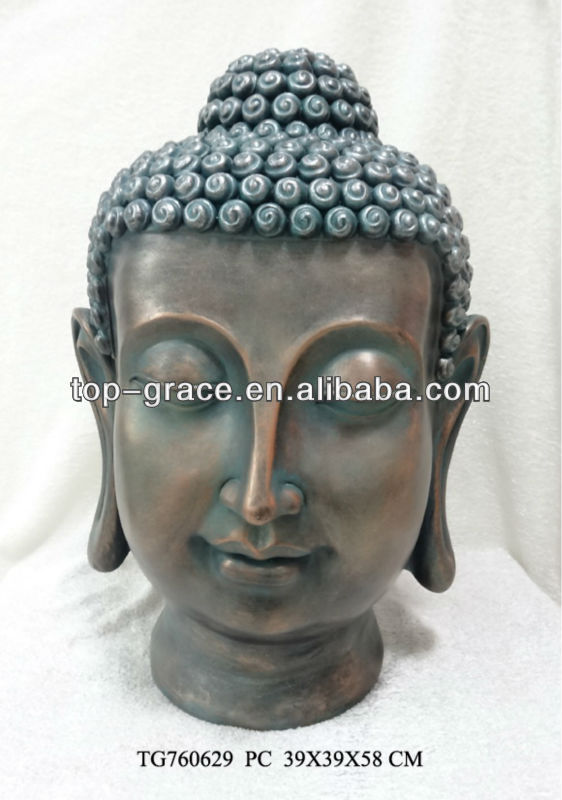 resin antique buddha head sculpture craft