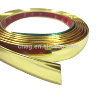 Gold Pvc Chormed Plastic Strip Adhesive