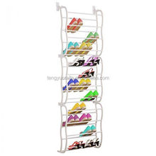 36 Pair Over The Door Hanging Shelf Shoe Rack Storage Stand Organiser Holder Mounted Wall